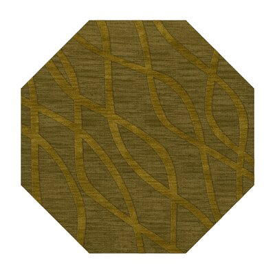 Dover Tufted Wool Avocado Area Rug Rug Size: Octagon 6