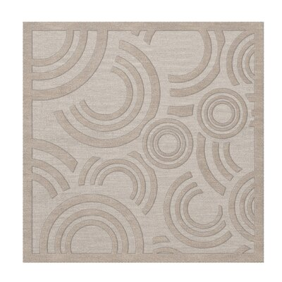 Dover Tufted Wool Putty Area Rug Rug Size: Square 12
