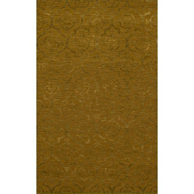 Bella Machine Woven Wool Gold Area Rug Rug Size: Rectangle 9 x 12