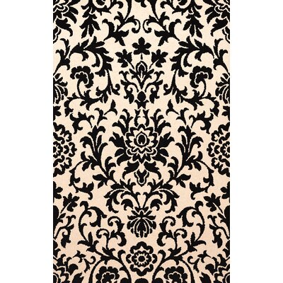 Bella Black/Beige Area Rug Rug Size: Square 12