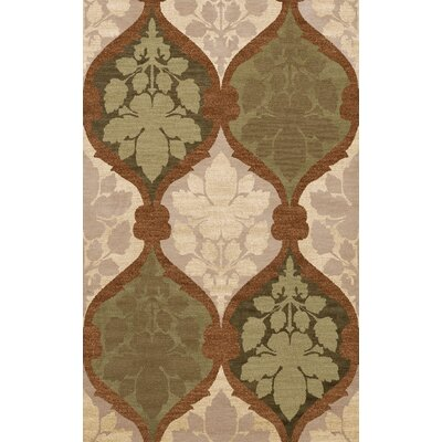 Bella Machine Woven Wool Brown Area Rug Rug Size: Round 10