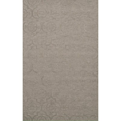 Bella Machine Woven Wool Silver Area Rug Rug Size: Rectangle 8 x 10