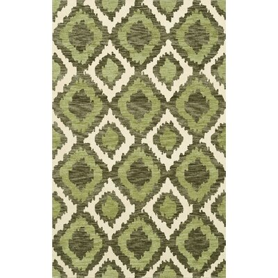 Bella Machine Woven Wool Green Area Rug Rug Size: Rectangle 5 x 8