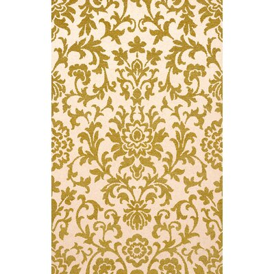 Bella Machine Woven Wool Green/Beige Area Rug Rug Size: Square 6'