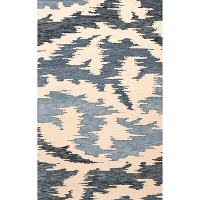 Bella Machine Woven Wool Black Area Rug Rug Size: Square 10