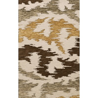 Bella Machine Woven Wool Brown Area Rug Rug Size: Oval 9 x 12
