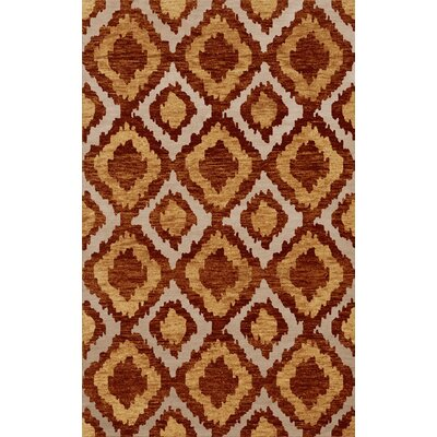 Bella Machine Woven Wool Brown/Beige Area Rug Rug Size: Rectangle 4 x 6
