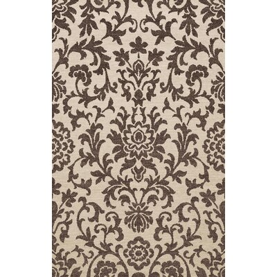Bella Machine Woven Wool Brown Area Rug Rug Size: Round 4