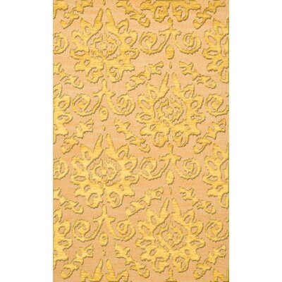 Bella Machine Woven Wool Beige/Yellow Area Rug Rug Size: Rectangle 12 x 15