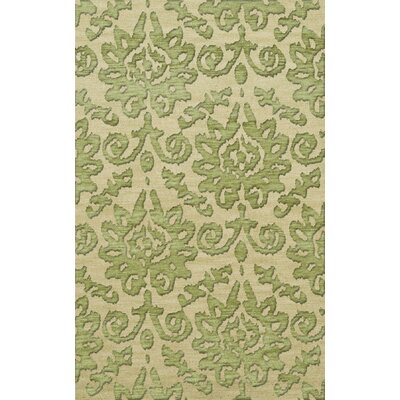 Bella Machine Woven Wool Beige/Yellow Area Rug Rug Size: Rectangle 8 x 10