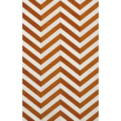 Shepler Wool Tangerine Area Rug Rug Size: Rectangle 12 x 18