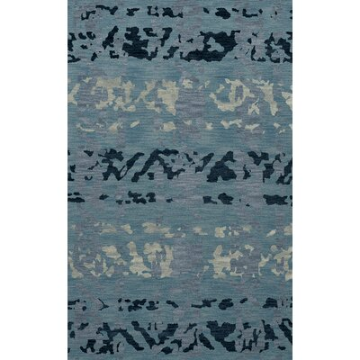 Bella Machine Woven Wool Blue Area Rug Rug Size: Oval 12 x 18