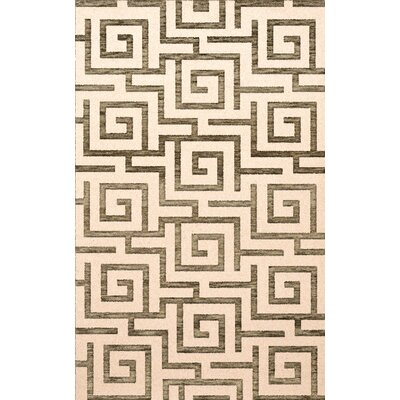Bella Gray/Beige Area Rug Rug Size: Rectangle 12 x 18