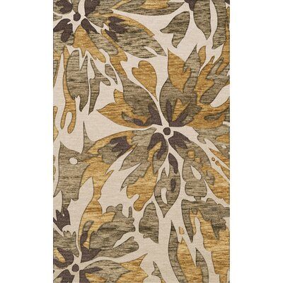 Bella Machine Woven Wool Beige Area Rug Rug Size: Round 4