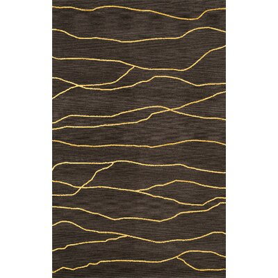Bella Black Area Rug Rug Size: Oval 5 x 8