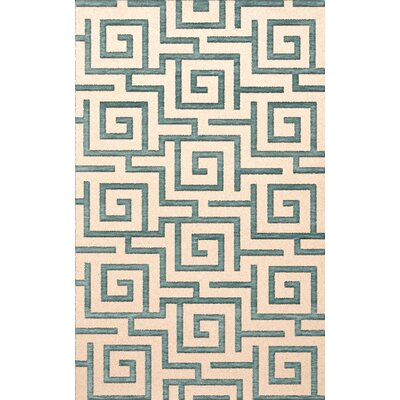 Bella Machine Woven Wool Beige/Gray Area Rug Rug Size: Rectangle 5 x 8