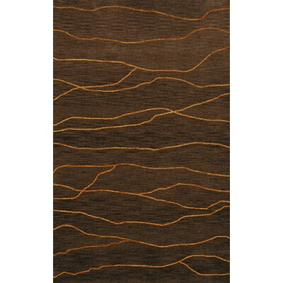 Bella Machine Woven Wool Brown Area Rug Rug Size: Round 12