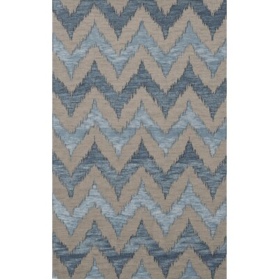 Bella Beige/Blue Area Rug Rug Size: Rectangle 4 x 6