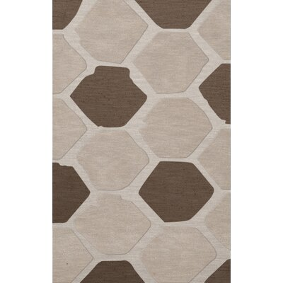 Dunson Wool Croissant Area Rug Rug Size: Rectangle 8 x 10