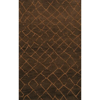 Bella Machine Woven Wool Brown Area Rug Rug Size: Rectangle 5 x 8