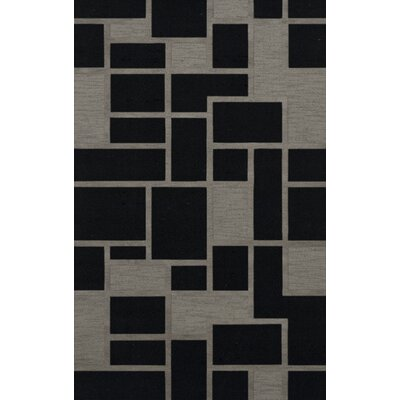 Haledon Wool Blackstone Area Rug Rug Size: Rectangle 6 x 9