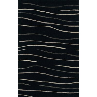 Bella Black Area Rug Rug Size: Rectangle 9 x 12