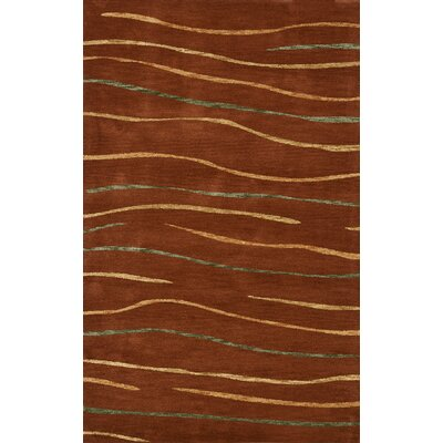 Bella Brown Area Rug Rug Size: Rectangle 9 x 12