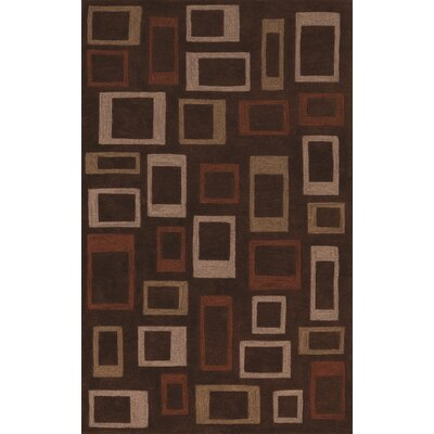 Studio Chocolate Geometric Area Rug Rug Size: 8' x 10'