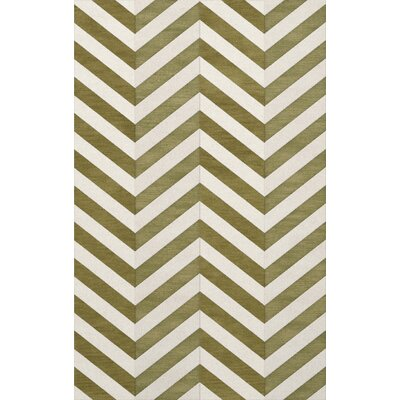 Shellenbarger Wool Herb/White Area Rug Rug Size: Rectangle 5 x 8