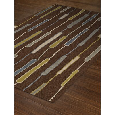 Ambiance Wool Chocolate Area Rug Rug Size: 9 x 13