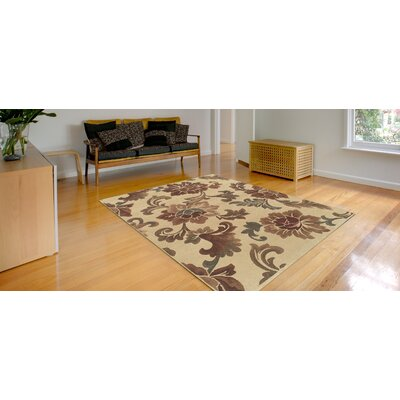 Arends Hand-Woven Ivory/Rust Area Rug Rug Size: Rectangle 5'3