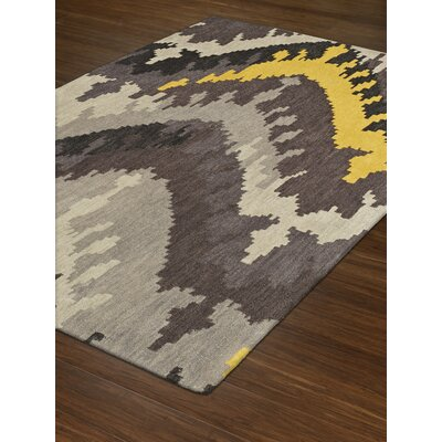 Impulse Wool/Silk Beige/Gray Area Rug Rug Size: 36 x 56