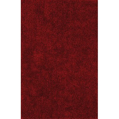 Nan Shag Dark Red Area Rug Rug Size: 9 x 13