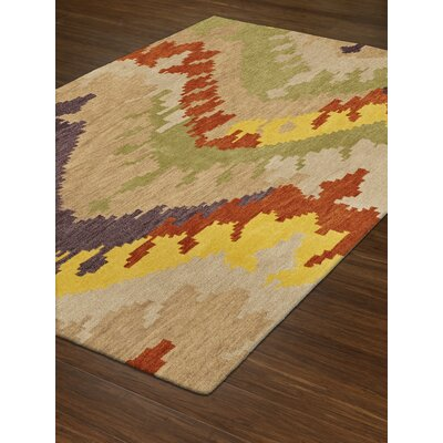 Impulse Wool/Silk Ivory/Yellow Area Rug Rug Size: 9 x 13