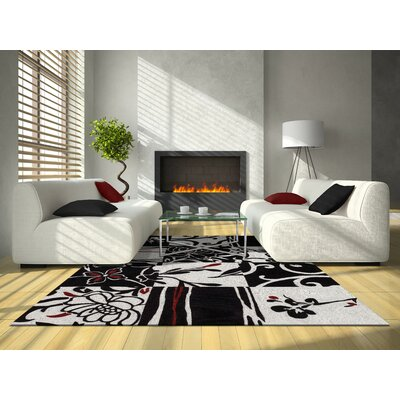 Studio Patchwork Black Area Rug Rug Size: 9 x 13