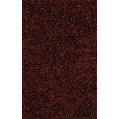 Nan Paprika Shag Area Rug Rug Size: Rectangle 5 x 76