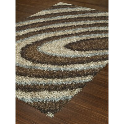 Visions Mocha/Cream Area Rug Rug Size: Rectangle 9' x 13'