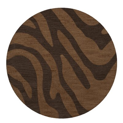 Dover Caramel Area Rug Rug Size: Round 10