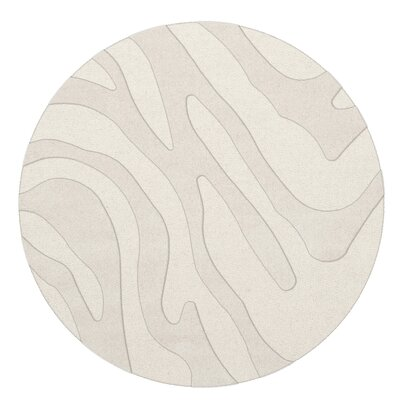 Dover Tufted Wool Snow Area Rug Rug Size: Round 12