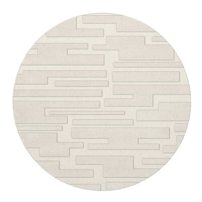 Dover Snow Area Rug Rug Size: Round 6