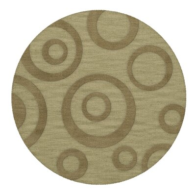 Dover Tufted Wool Marsh Area Rug Rug Size: Round 4