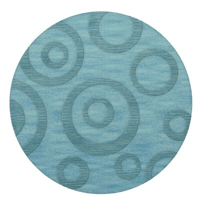 Dover Peacock Area Rug Rug Size: Round 12