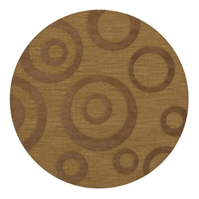 Dover Tufted Wool Gold Dust Area Rug Rug Size: Round 4