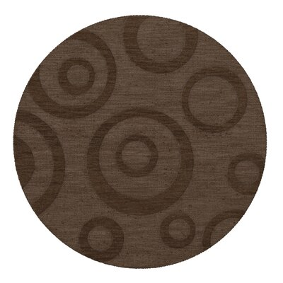 Dover Tufted Wool Mocha Area Rug Rug Size: Round 12