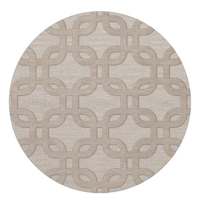 Dover Putty Area Rug Rug Size: Round 10