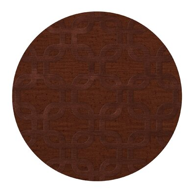 Dover Paprika Area Rug Rug Size: Round 4