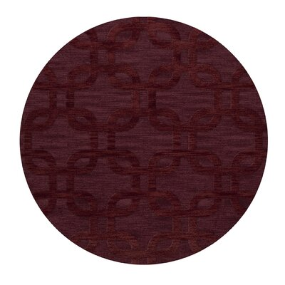 Dover Burgundy Area Rug Rug Size: Round 12