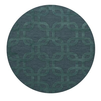 Dover Teal Area Rug Rug Size: Round 6