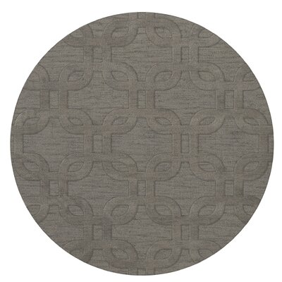 Dover Silver Area Rug Rug Size: Round 12