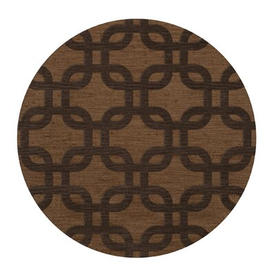 Dover Caramel Area Rug Rug Size: Round 12